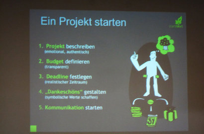 'How to crowdfund' bei Startnext