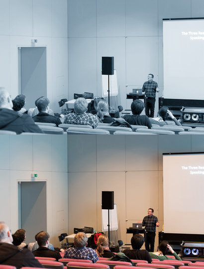 Lecture from Adrian Martin 'Paths and Possibilities in Film Criticism Today'. Foto: Philipp Kohler