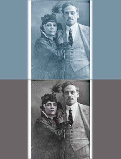 Elvira Notari, Italian filmmaker, pictured with her husband Nicola Notari. https://en.wikipedia.org/wiki/Elvira_Notari